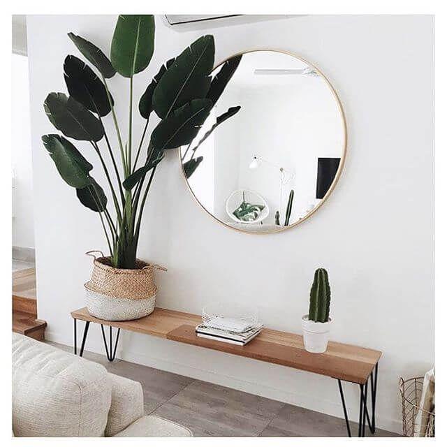 Love A Round Mirror Living Room Scandinavian House Interior Home Decor