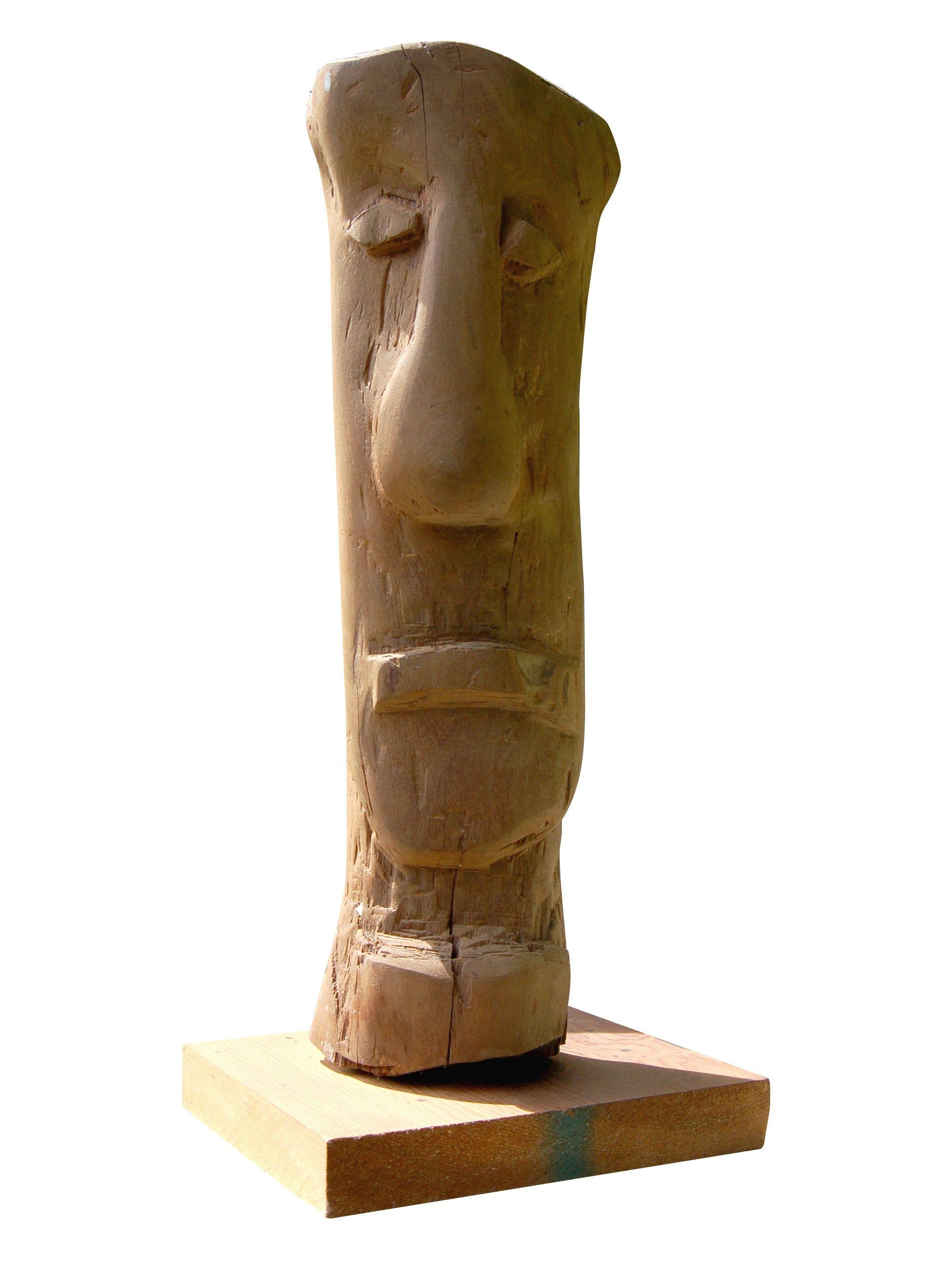 Claudio Anaya No.2, madera de rehuso tratada con aceite de lima y base madera.