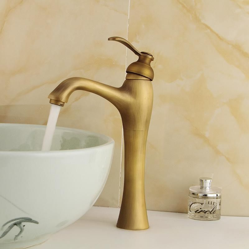 Free Shipping Top Quality Bronze Basin Sink Faucet With Deck Mounted Antique  Bathroom Faucet Of Solid