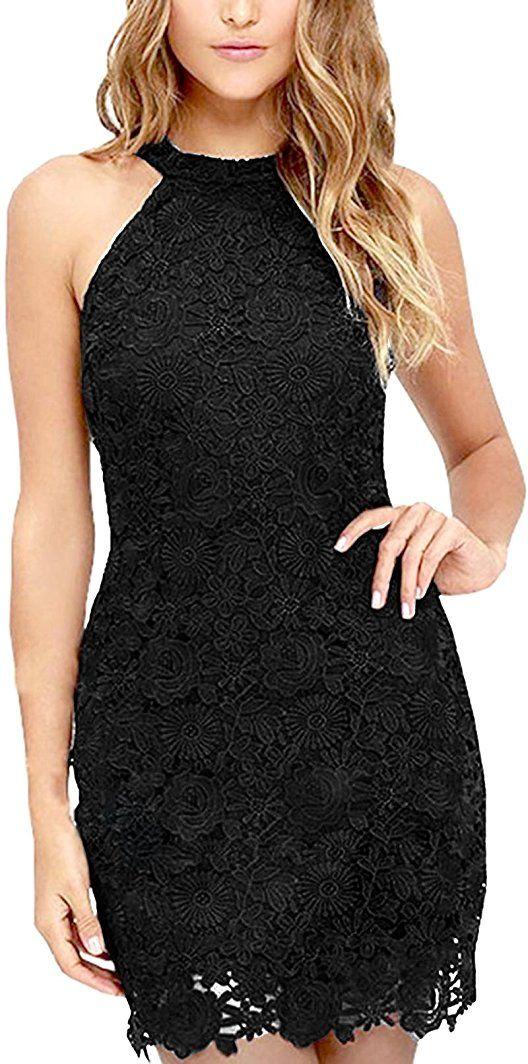 7e3a668ca99f93 Shoppen Sie Damen Sommerkleid Vintage Ärmellos Spitzenkleid Ballkleid  cocktailkleid Retro Rockabilly Festlich Partykleid - silvester outfit