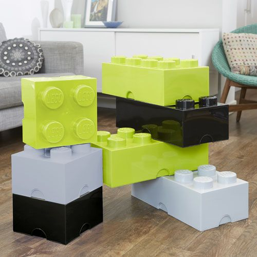 Giant LEGO Storage Blocks - Lime Green, Grey, Black - Teenage ...