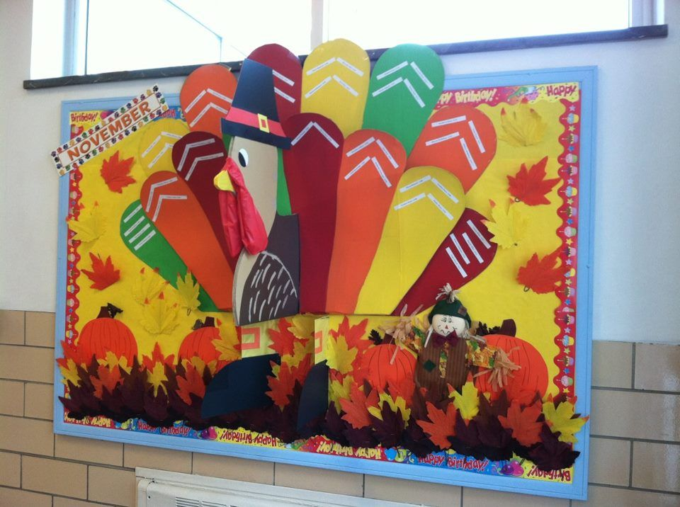 November Calendar Bulletin Board Ideas : Our november birthday board gobble school