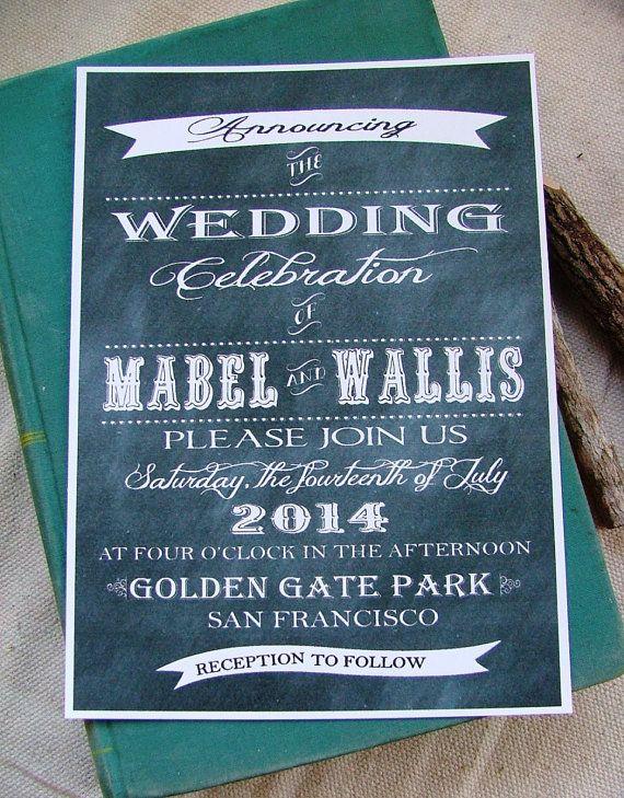 Dangit IM Already Married Chalkboard Wedding Invitations By