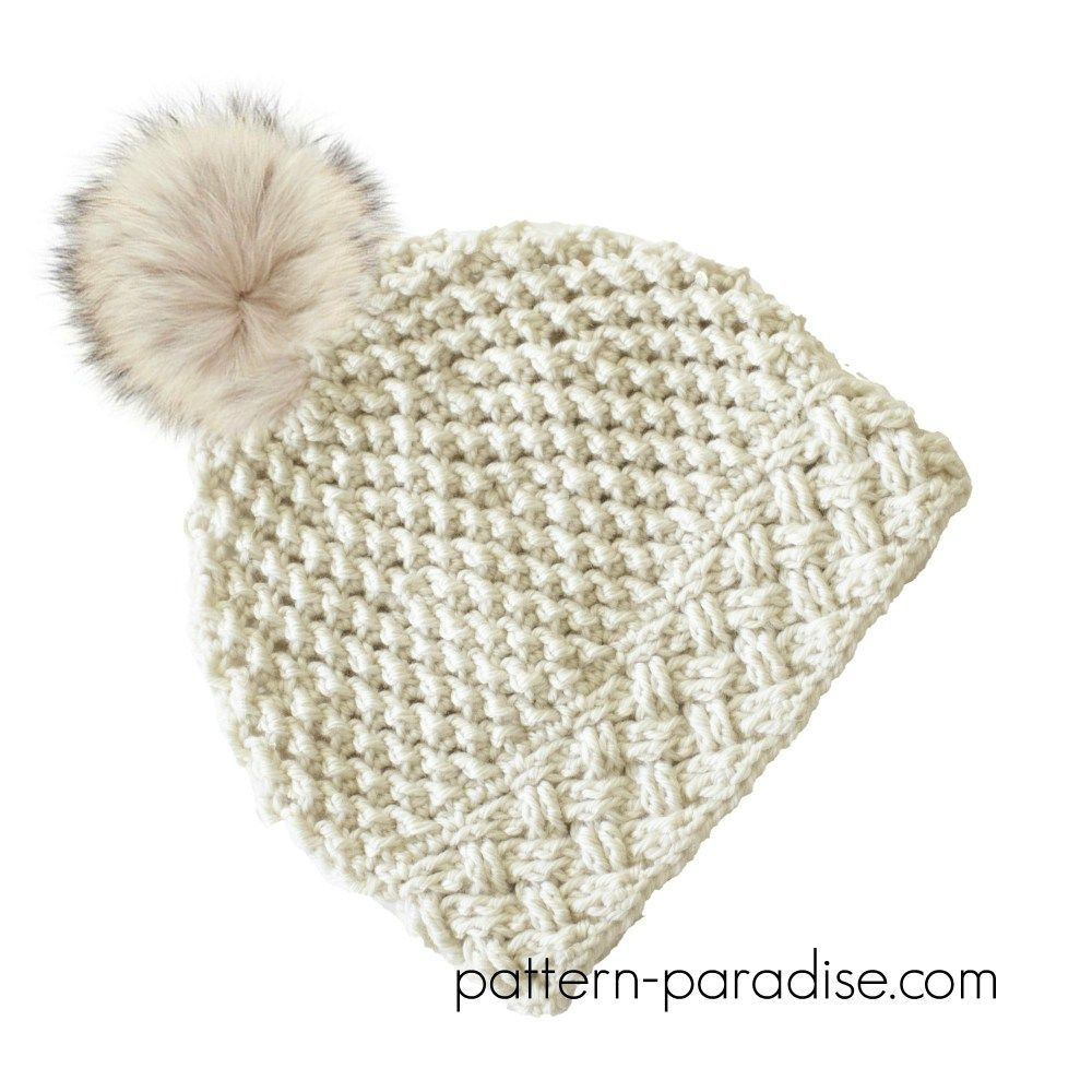 Crochet Pattern: Arctic Snow Hat | Gorros, Gorros crochet y Tejido