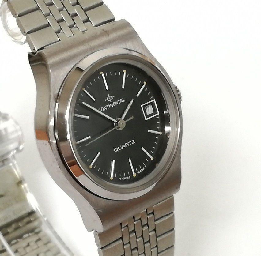 Reloj mujer CONTINENTAL QUARTZ Original Vintage de acero inoxidable con  fecha 1bd97b399c4f