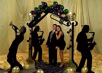 mardi gras band silhouettes in 2019 Music themed parties