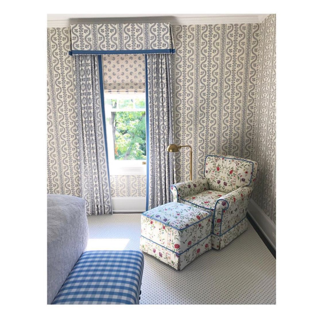 Cameron Ruppert Interiors Curtains And Wallpaper In Dolly