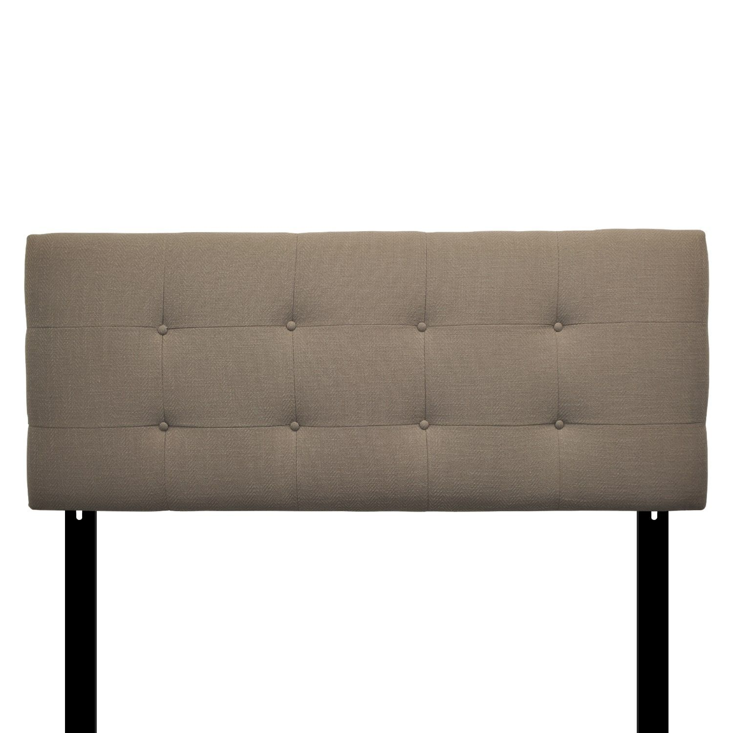 Sole Designs 8-button Tufted Carlsbad Metal Headboard (Reclaimed ...
