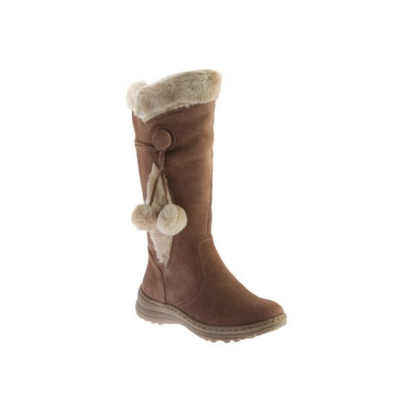 Fur lined boots, Waterproof suede boots