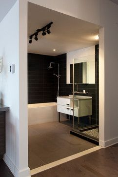 Design interieur condo montreal - Interior design condo montreal contemporary-bathroom