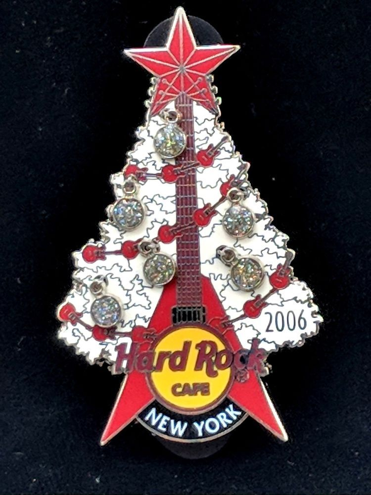 2006 Hard Rock Cafe Pin HRC New York Christmas Tree w. Ornaments Original  Pouch - 2006 Hard Rock Cafe Pin HRC New York Christmas Tree W. Ornaments