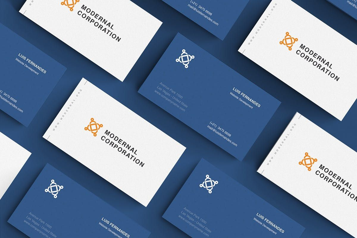 35 exciting minimalist business card templates psd in