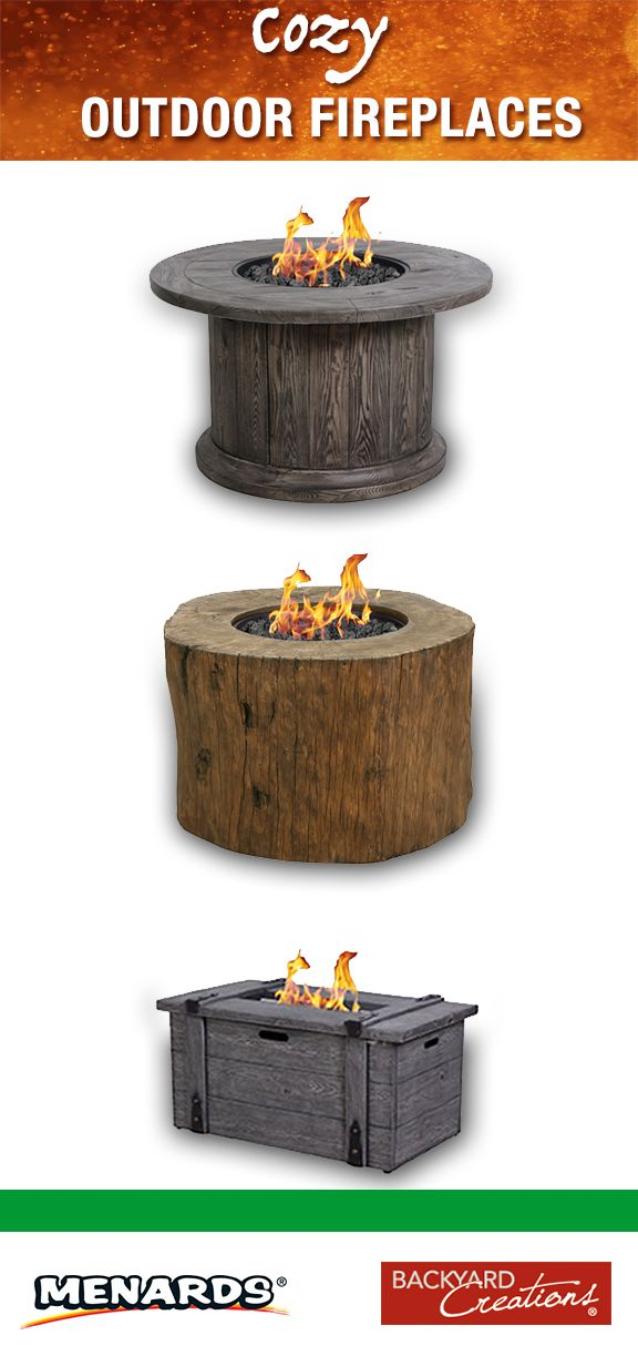 Backyard Creations Menards Part - 19: Create a cozy campfire setting with Backyard Creations™ Fire Pits from  Menards! Choose from tabletop versions to fire rings, tables and more.