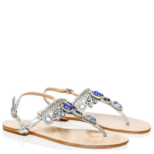 23a997203 RASTEIRINHA COM PEDRAS AZUIS Pedras Azuis, Sapatos Sandálias, Sapatilhas,  Enfeites, Sandálias Flat