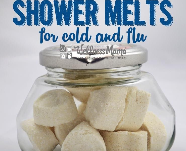 Soothing and Calming Shower Melts for Cold and Flu