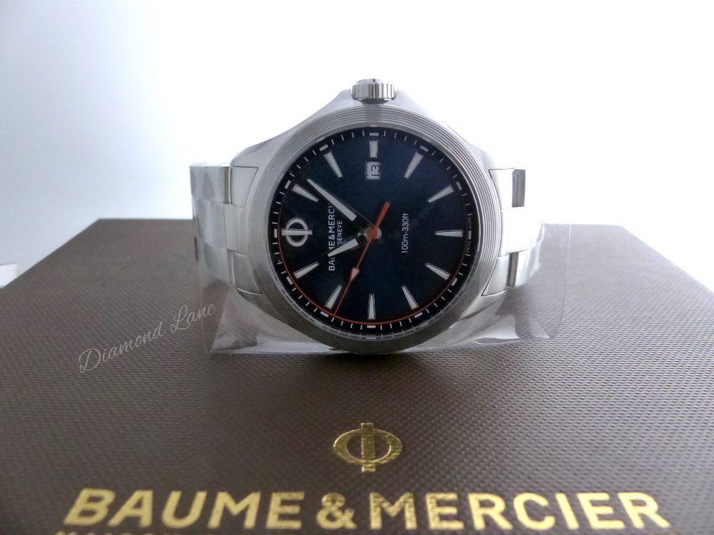 bdfa540396d Baume et Mercier Clifton Blue Dial Steel Bracelet Swiss Quartz Men s Watch  10413  BaumeMercier