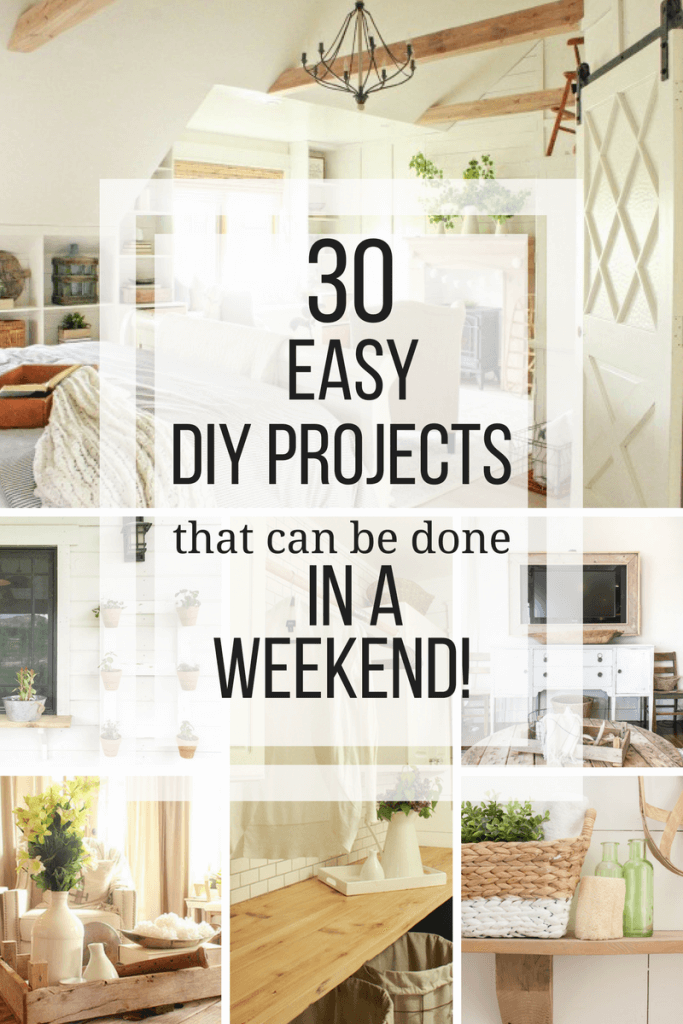 Over 30 Simple Wood Projects You Can Do In A Weekend Easy Wood Projects Diy Wooden Projects Easy Woodworking Projects