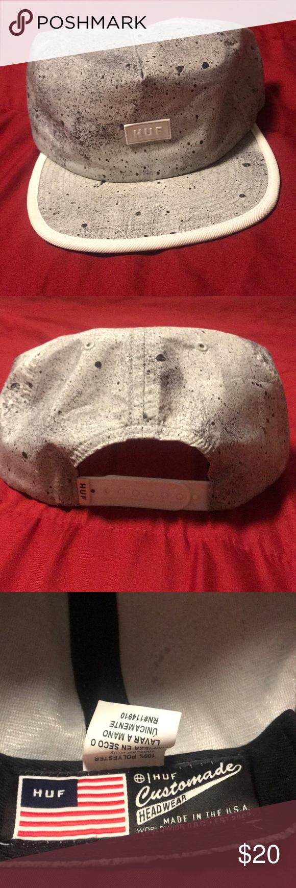 0716b99f Huf SnapBack hat Grey black and white HUF Accessories Hats   My Posh ...