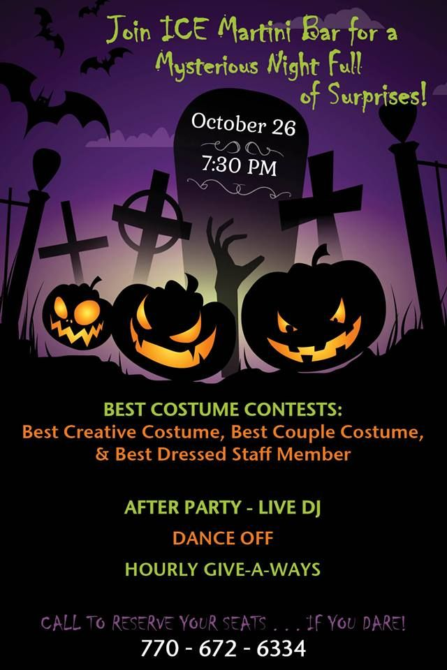ICEu0027s promotional ad for the #Halloween #party! ICE Martini - halloween party flyer