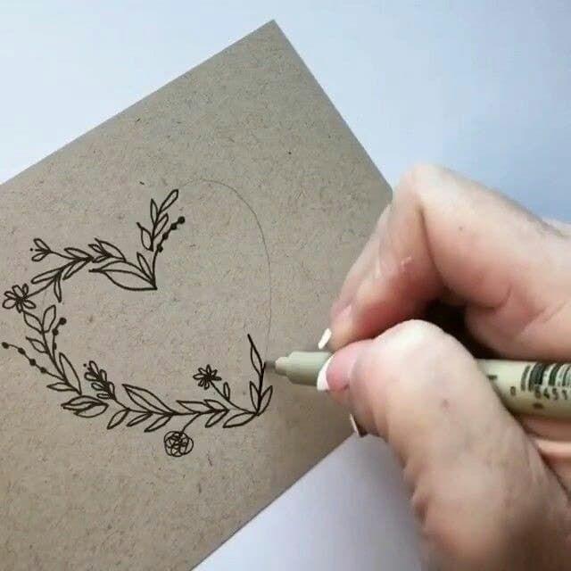 Karte Gestalten Herz Zeichnen Geschenkideen How To Draw Hands
