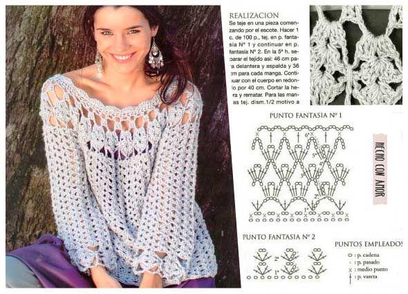 Maxi tunica sexy y bohemia tejida a ganchillo   crochet variedades ...