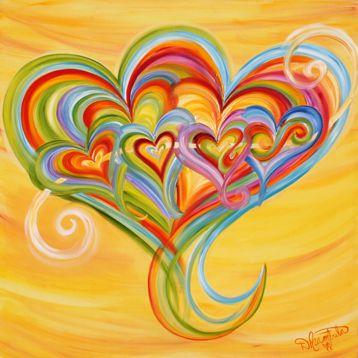 six hearts still together