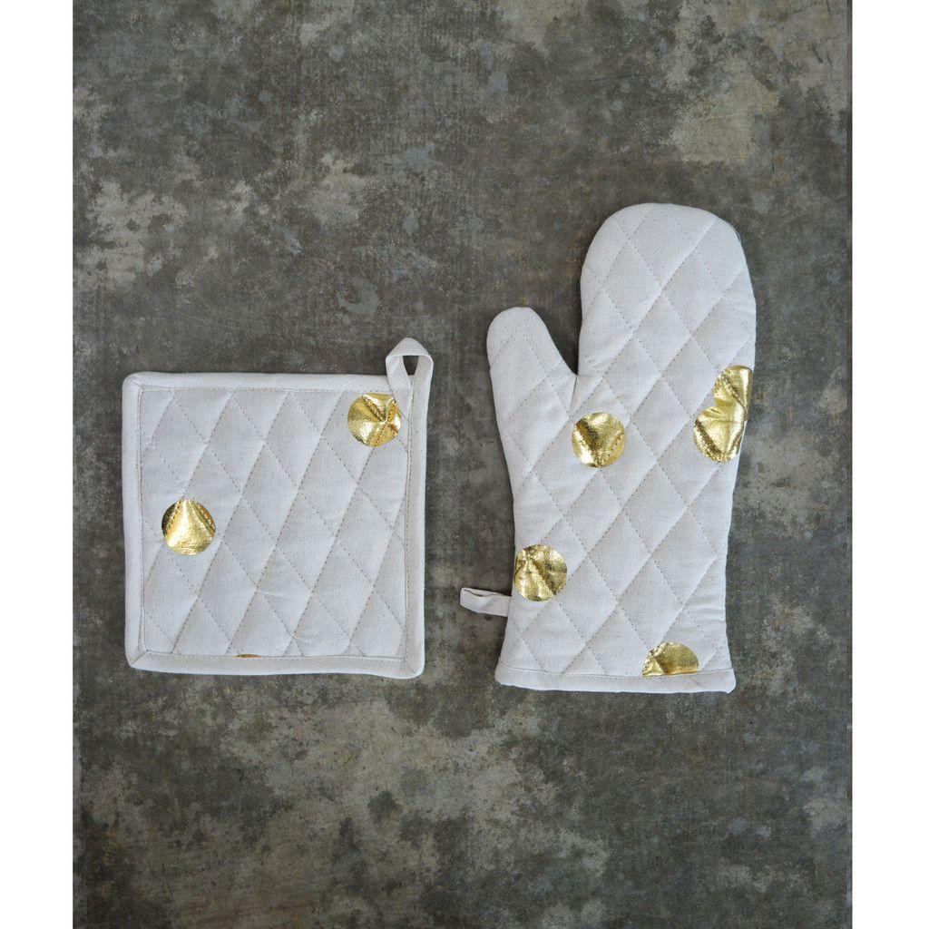 Polka Dot Pot Holder Set (Set of 2) Bachelorette pad