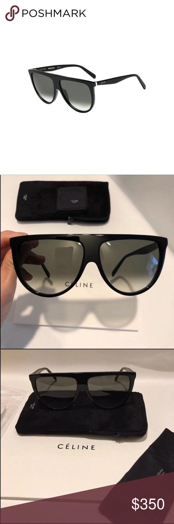 e51b676835e2 Celine Thin shadow sunglasses 🔥 Celine 41435 s Thin shadow black grey  green sunglasses