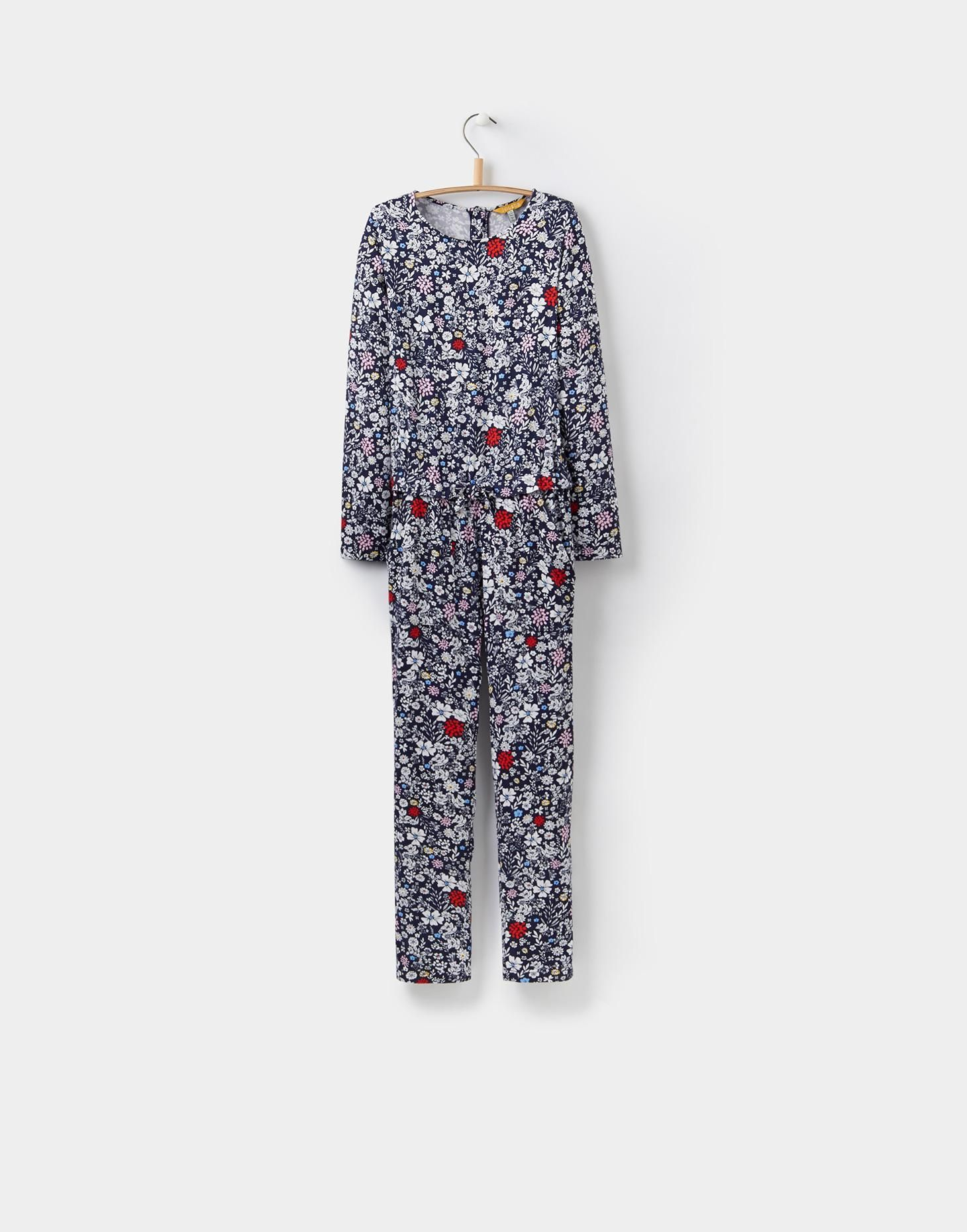 114c8518006 Carly French Navy Ria Ditsy Mock Layer Jumpsuit (3-12yr)