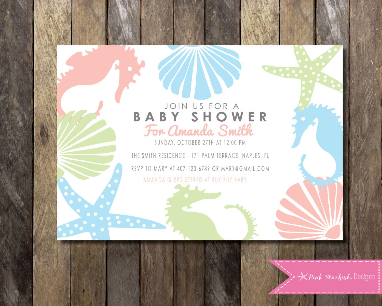 Under the Sea Baby Shower Invitation, Baby Shower Invitation ...