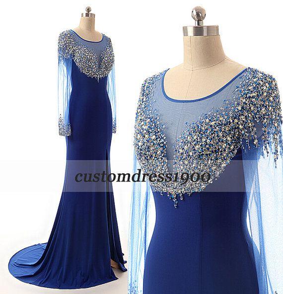 Royal Blue Prom Dresslong Prom Dresshandmade By