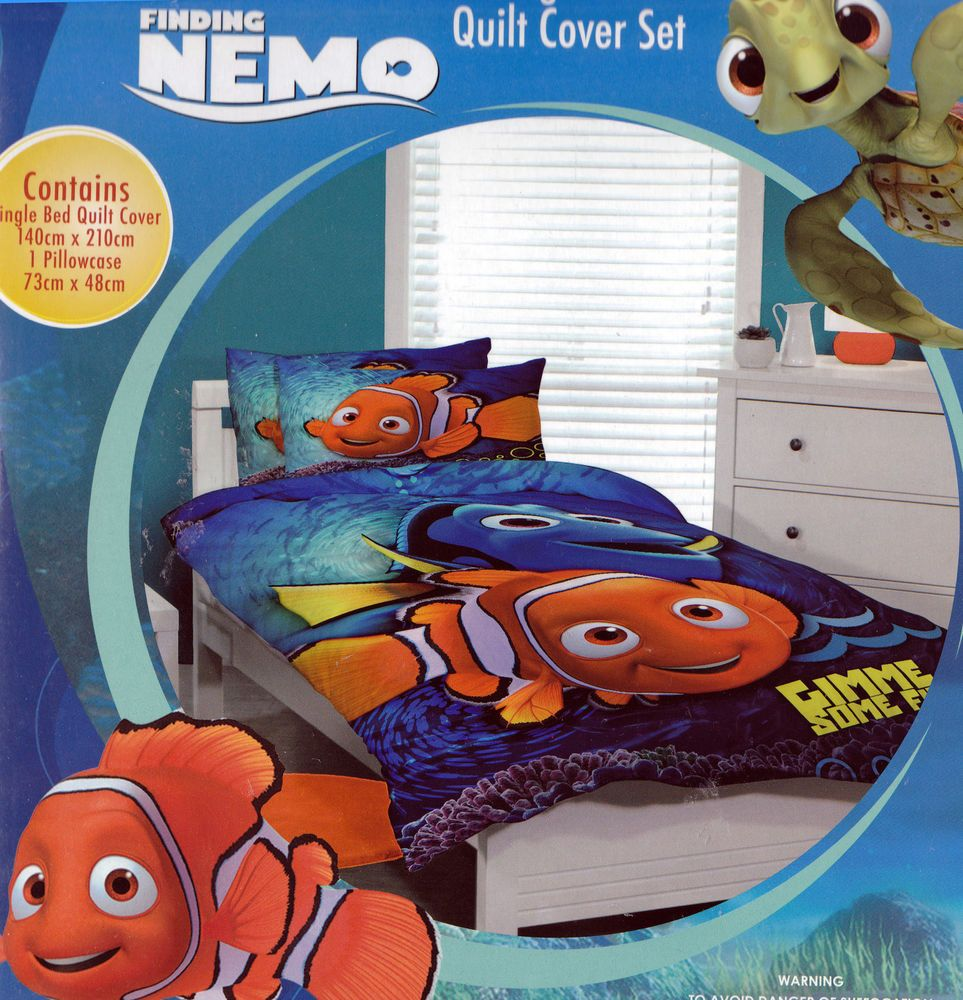 Disney FINDING NEMO with DORY Kids SINGLE Reversible Duvet