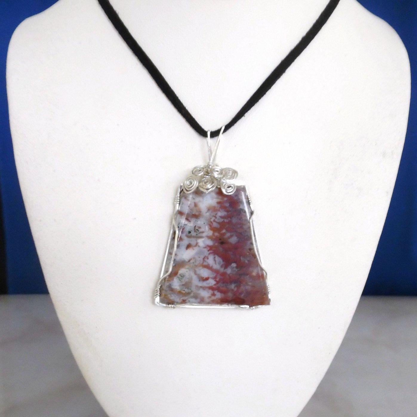 Pietersite Pendant, Wire Wrapped Pendant, Healing Gemstone Pendant ...