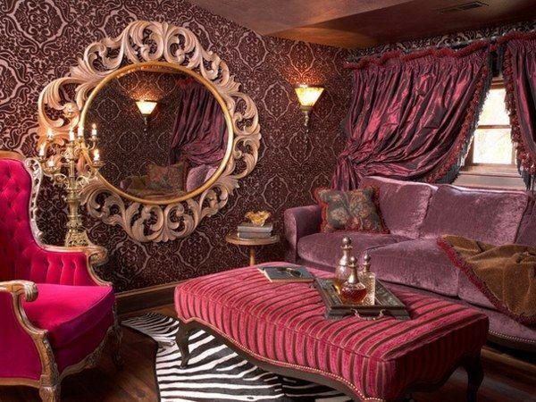 Lila Wohnzimmer Einrichten Viktorianischer Stil