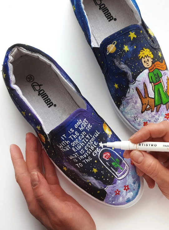 Artistro Diy Galaxy Canvas Shoe Design Create Your Own Design On Any Surface Including Shoes With Paint Pens Fr In 2020 Hand Painted Shoes Canvas Shoes Painted Shoes