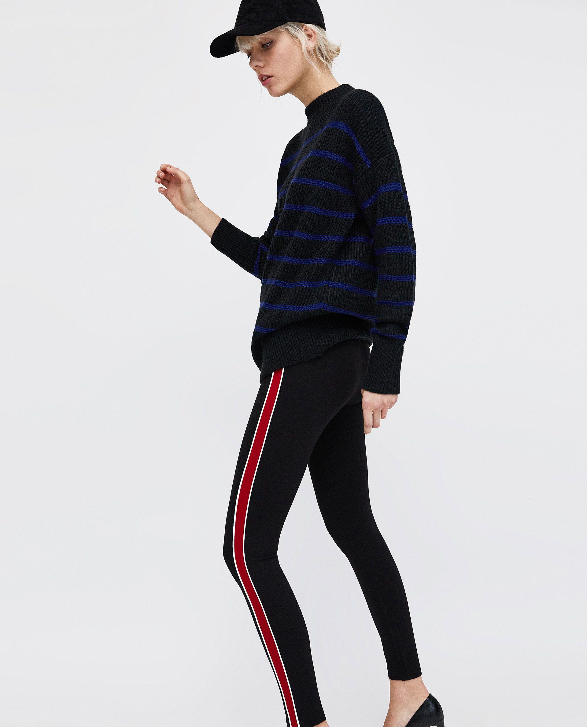 9f684eb5 LEGGING BANDA LATERAL CON VIVOS | London | Zara outfit, Zara ...