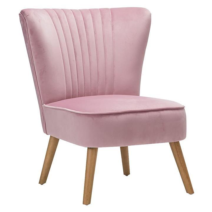 Best Velvet Slipper Accent Chair Blush Pink By Eastern 640 x 480