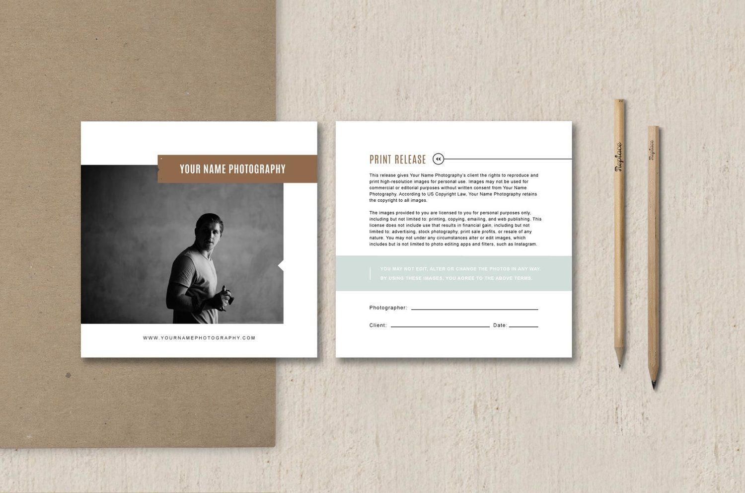 Print Release Template  Elm  Template Branding Template And