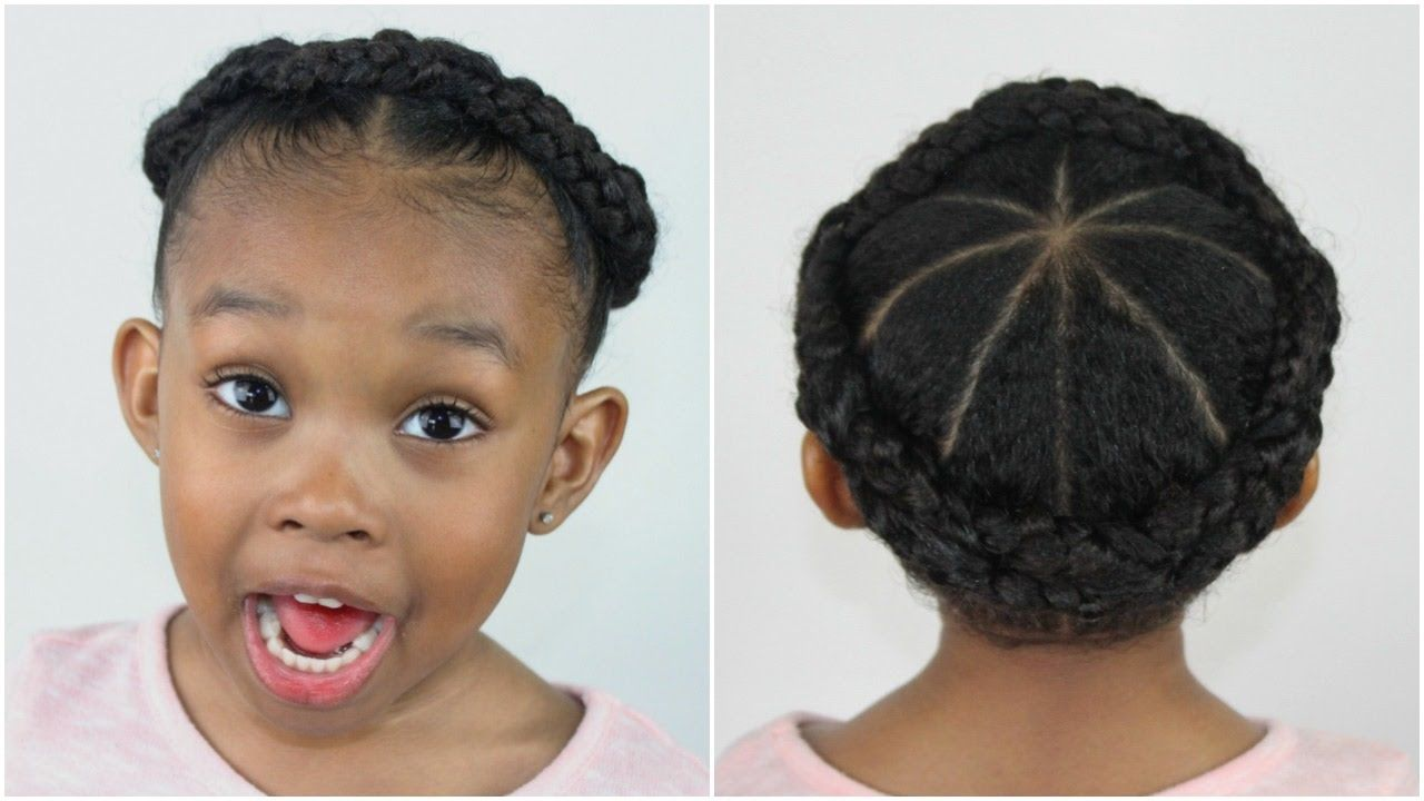Crown Braid Hairstyles For Little Girls Sekora And Sefari