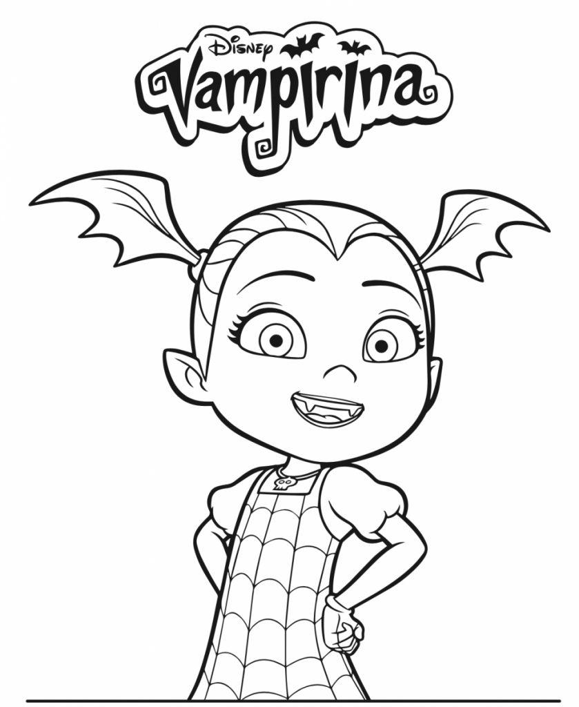 Coloring Pages Vampirina Halaman Mewarnai Buku Mewarnai Disney