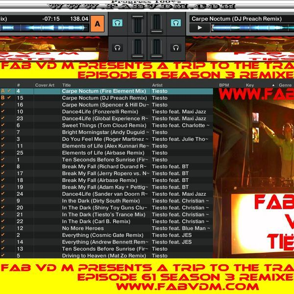 Fab vd M Presents A Trip To The Trance World Episode 61 Season 3 Remixed. Mixed in key By : Fab vd M (Dj,Producer,Remixer) You can like Fab vd M at face book here : www.facebook.com/fabvdm1979  Look below to other websites from us, and follow us on the other websites : www.fabvdm.com  www.tranceworldradio.com www.clubdanceradio.com Follow us at Twitter : https://twitter.com/fab_vd_m  Soundcloud: https://soundcloud.com/fab-vd-m  Youtube : www.youtube.com/user/m