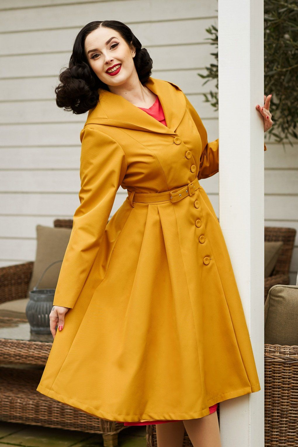 50s Lorin Sun Swing Trench Coat In Mustard Fantastic Clothes Gorgeous Clothes Swing Skirt [ 1530 x 1020 Pixel ]