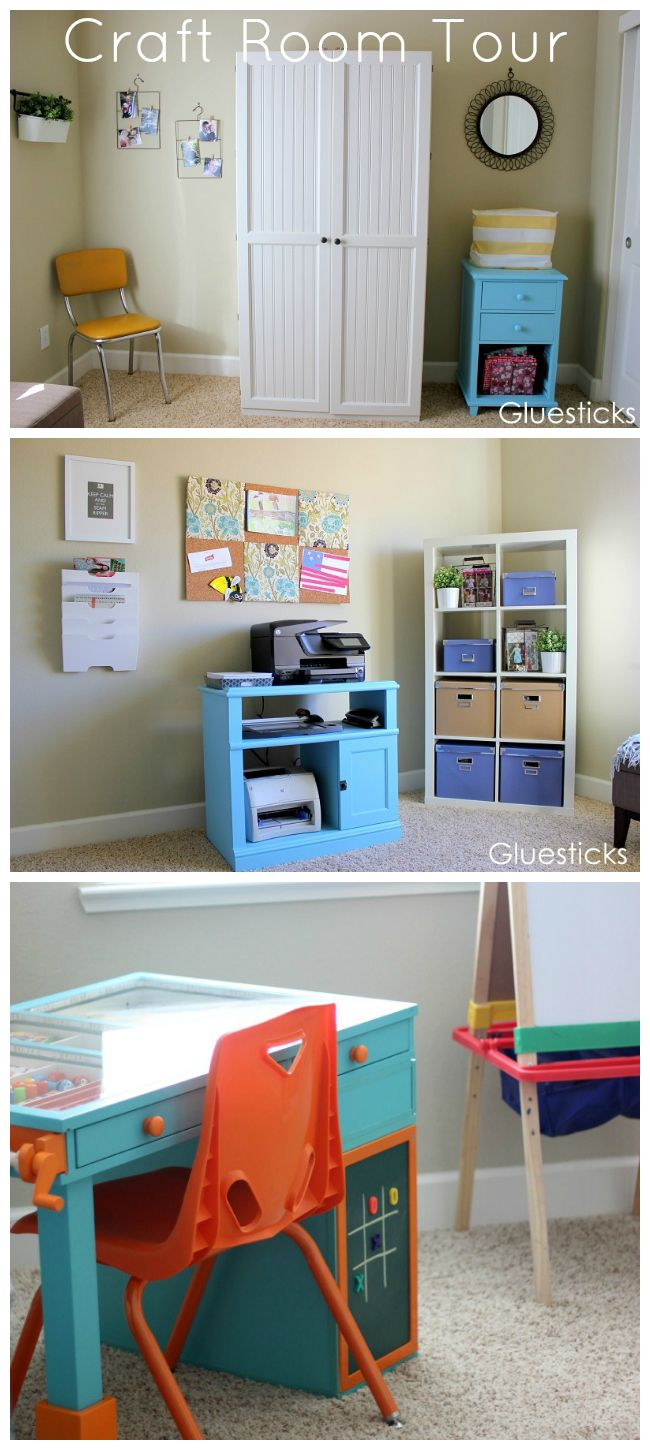 Craft Room Tour - Brandy at Gluesticks Blog | Craft Rooms ...