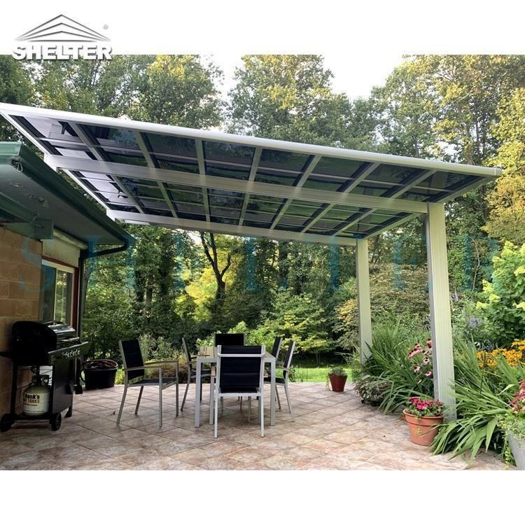 4x4m Bbq Awning In Flat Roof Design Your Patio Awning Sunshield In 2020 Aluminum Patio Awnings Aluminum Patio Patio