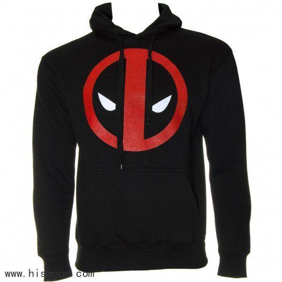 Deadpool Logo Sweatshirt Black Clothes