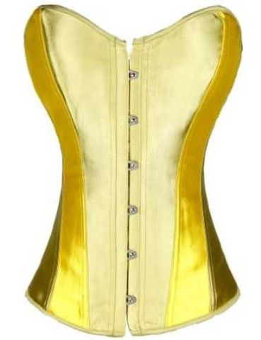 Corset Overbust Women's Lady Yellow – Mary Corset- Wanda top