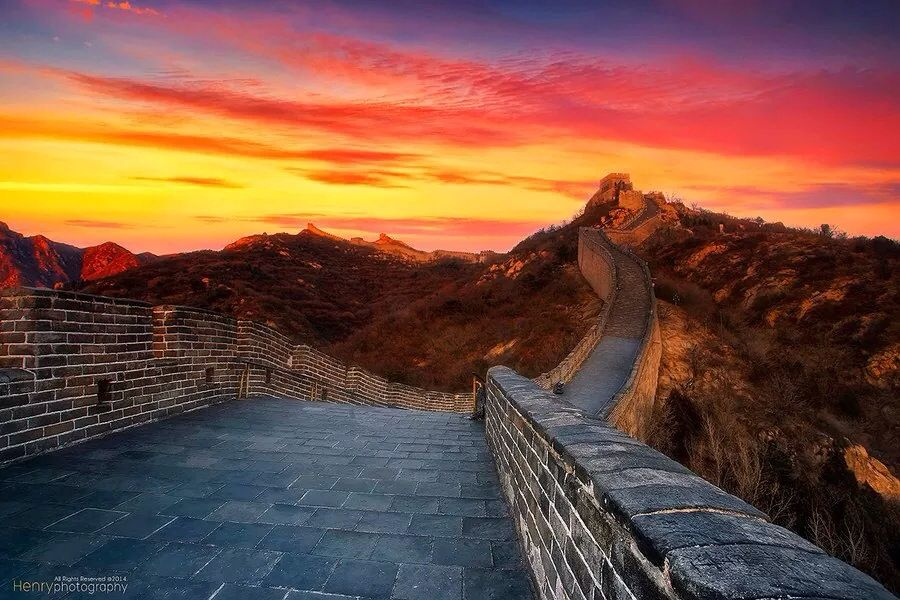the great wall of china sunset scenery beautiful sunset on great wall of china id=91671