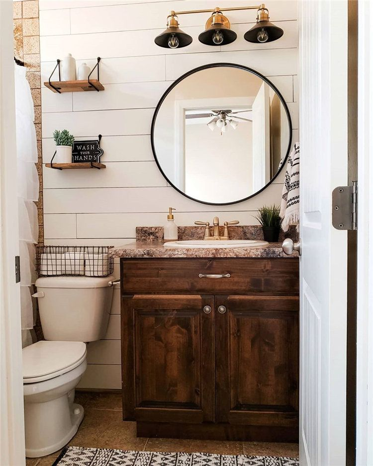 30 Small Bathroom Inspiration How To Decorate Small Bathroom Small Bathroom Inspiration Diy Bathroom Remodel Small Bathroom