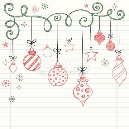 Sketchy Doodles Christmas Ornaments Painting Pinterest Navidad - Postales-navidad-dibujos