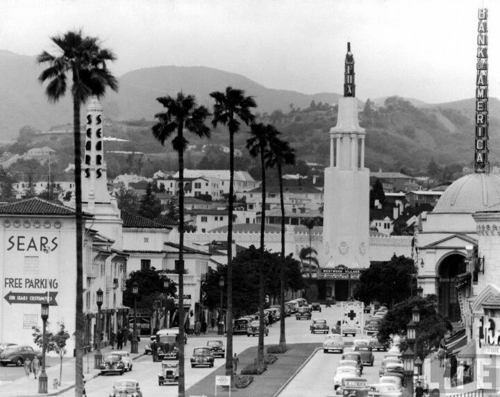 LOS ANGELES / WESTWOOD:   Westwood Village Los Angeles, 1949